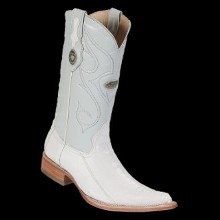 Product# KA8010 New Reg: $795 discounted Online Sale clearance diamonds Boots- Ostrich Leg White 3x-Toe Cowboy Boots