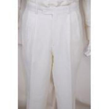 Pants Solid White 2