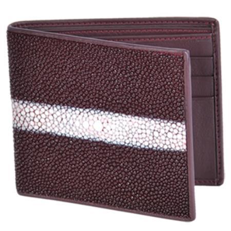 Product# KA4382 Cartera Mantarraya Perla Pulida Wallet – Vino