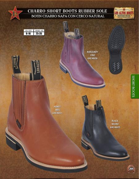 Product# D3C Authentic Los altos Charro Short Boots Rubber Sole Diff. Colors/Sizes