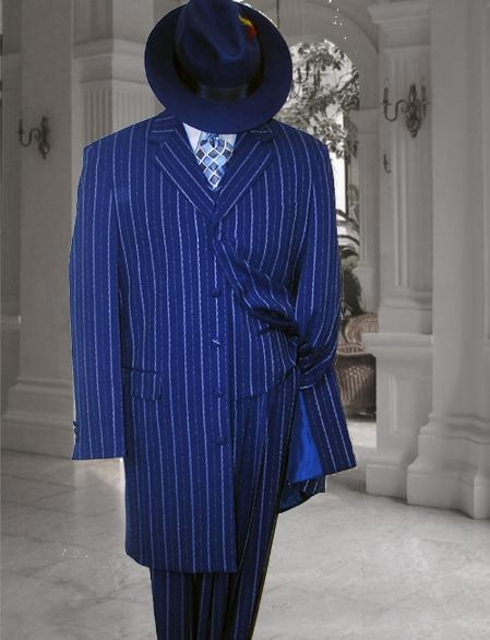 Vested Royal Blue Suit