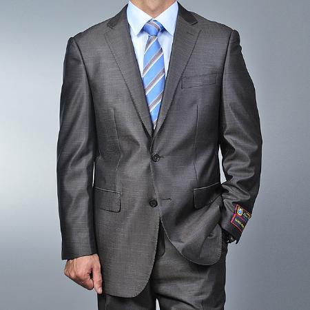 Metallic Grey 2-button Suit