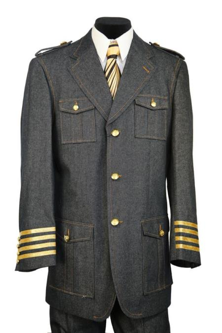 Mens Military Style Tri-Stripe