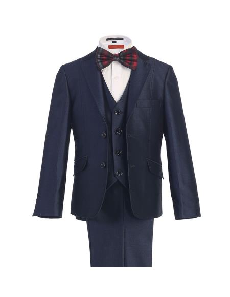 Product# SM419 Navy Blue Shade 2 Button Style Notch Lapel Kids Boys Kids Sizes Boys And Men Suit For Teenagers With Pant