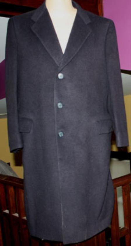 Product# Sentry3310 45 Inch Navy Blue Shade classic model features button front Wool Fabric 3 Button Style
