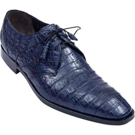 Product# KA6787 Full Gator Belly Dress Shoe – Navy Blue Shade