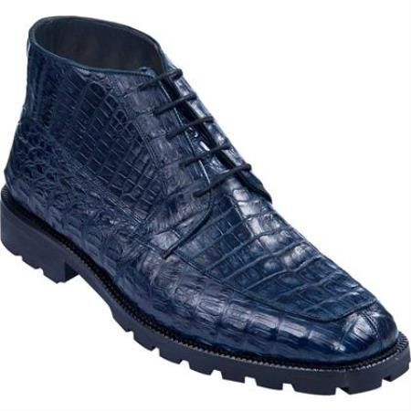 Product# KA4227 High Top Gator Skin Shoe Navy Blue Shade