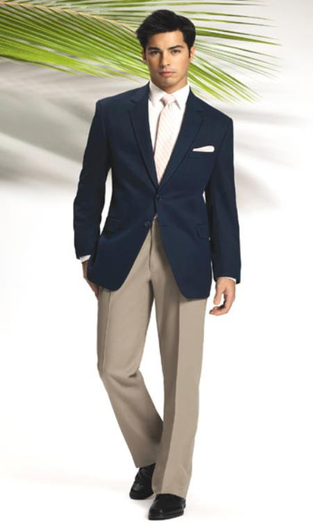 Solid Navy Blue Shade 2 Button Style Sport Coat Jacket Blazer Online Sale + Any color Dress Pants + Free Shirt