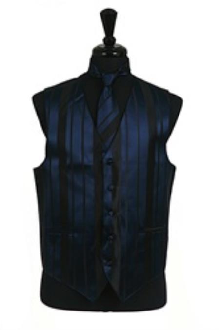 Vest/Tie/Bowtie Sets (Navy Blue