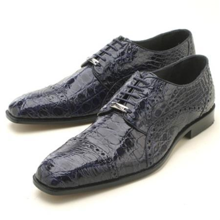 Product# KA2341 Navy cai ~ Alligator skin Oxford