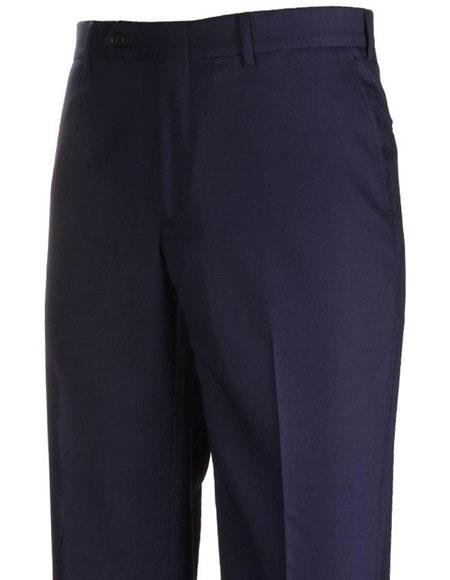 Product# JSM-4302 Mens Stylish Flat-Front Navy Atticus Classic Fit Casual Pant