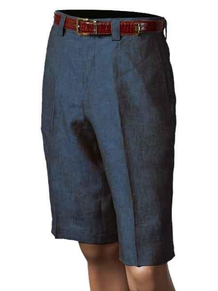 Product# SM851 Inserch Brand Brand/Merc Linen Navy Flat Front Shorts