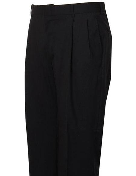 Product# JSM-4298 Mens Navy Stylish Pleated Atticus Classic Fit Wool Pant