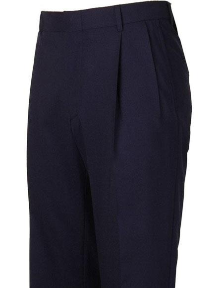 Mens Stylish Pleated Navy