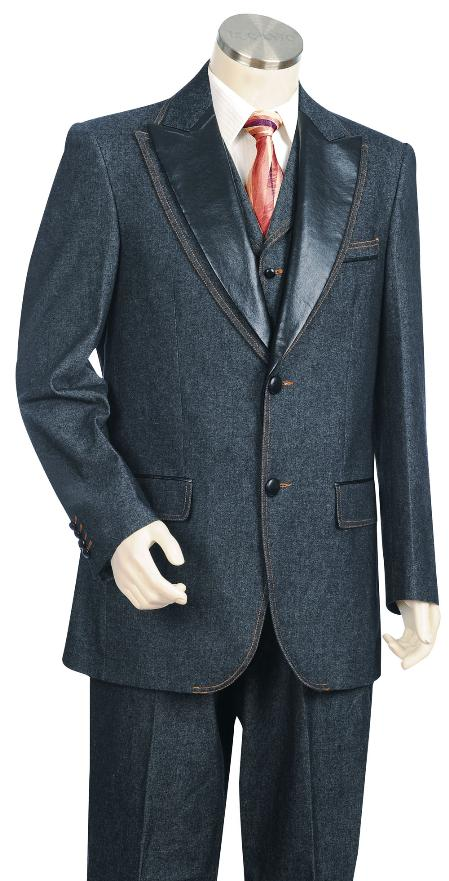 Product# KA1490 Navy 3 Button Style Suit