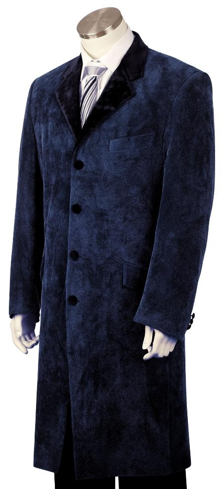 Fashion Velvet Suit Navy