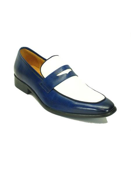 Mens Carrucci Navy/White Fashionable