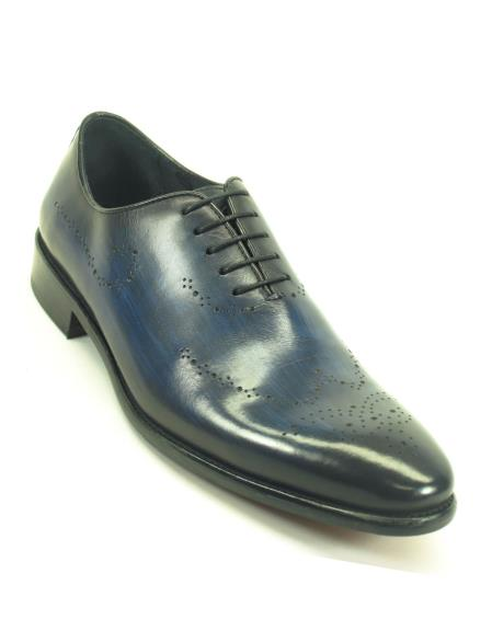 Carrucci Mens Navy Lace