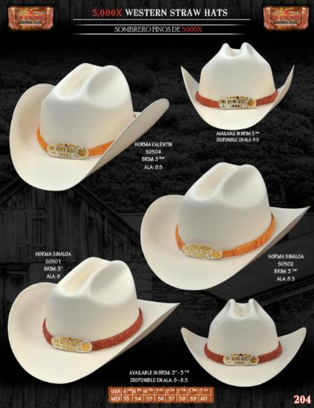 Product# HMA7117 5,000x Norma Style Western Cowboy Straw Hats
