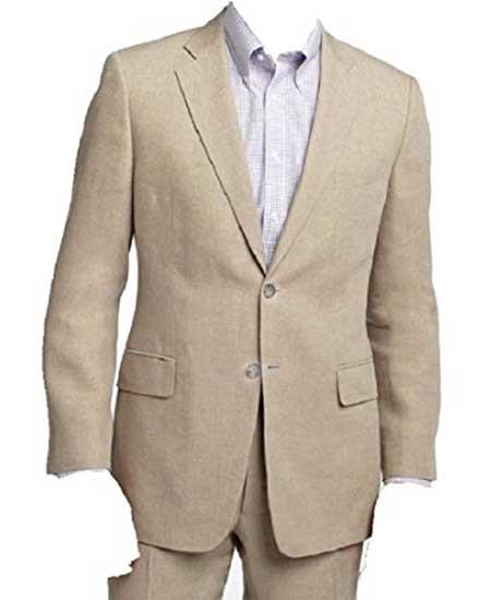 Mens Two Piece Beige/Natural
