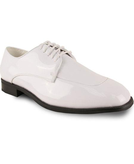 Product# GD1682 Men's Formal Tuxedo Off White Fully Lined Lace Up Dress Shoe
