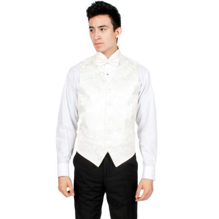 Off-White Paisley Vest Bowtie
