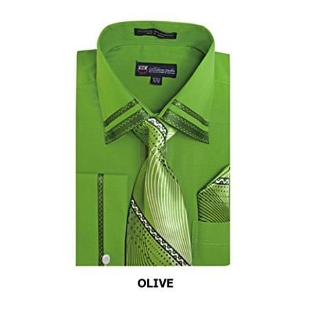 Mens Fashion Olive Shirt