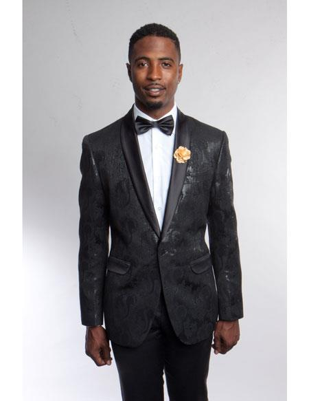 men's Fashion Stage Blazer ~ Sport coat Black