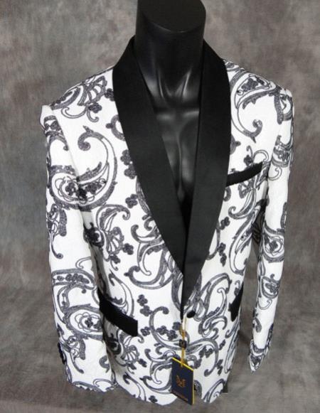 mens fancy paisley sequin