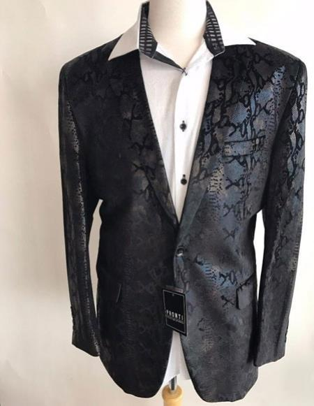 Mens Black sequin One