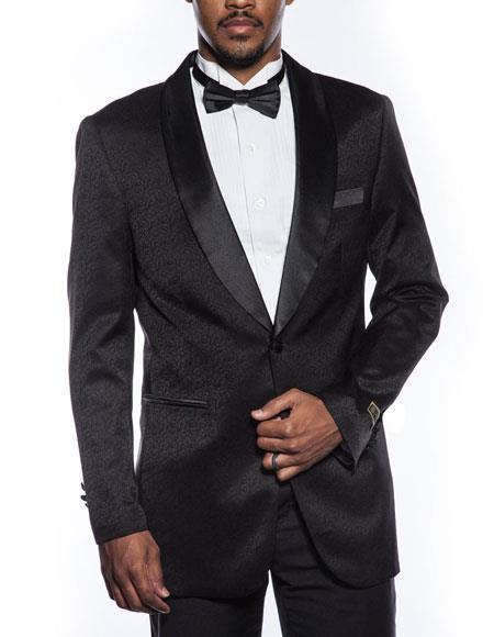 Mens black tuxedo jacket