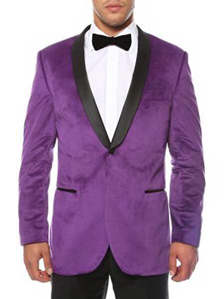 Mens Purple 1 Button