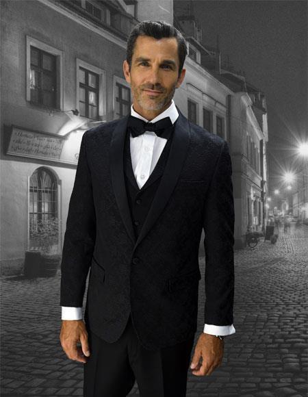 20882ad5db6f Downtown Pearl White and Liquid Jet Black formal tux Jacket