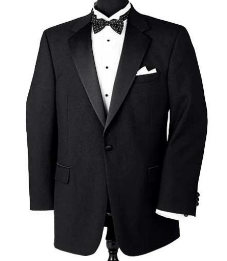 Product# GPK One Button Notch Tuxedo Superior Fabric 150's Wool Fabric Jacket + Pants