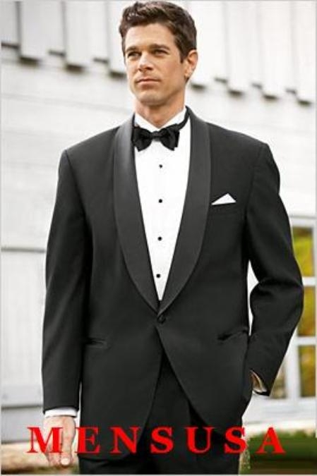 Product# MT1S High Quality One button Shawl Tuxedo Made of Worsted Vergin Wool Fabric