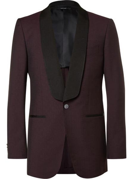Mens Slim Fit Burgundy