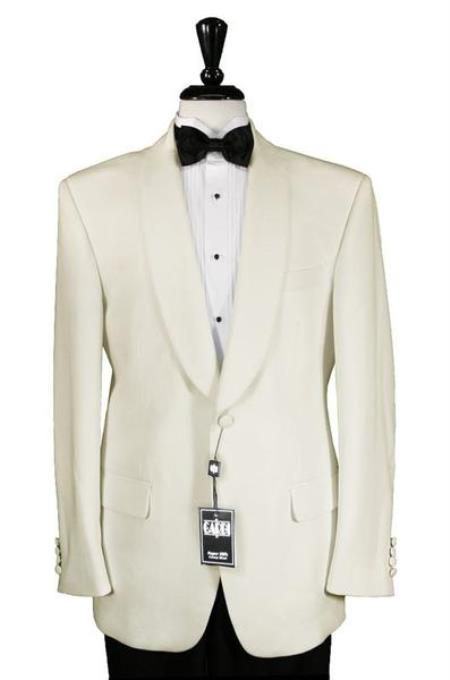 Product# JSM-2152 Men's 1 Button Ivory Shawl Dinner Jacket
