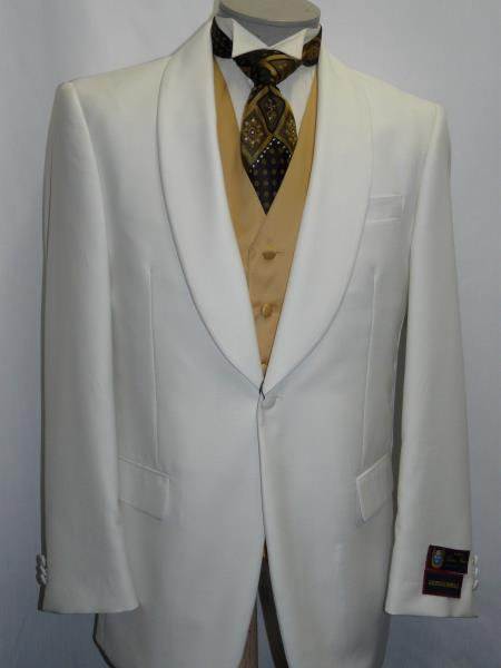 Ivory Dinner Jacket Shawl