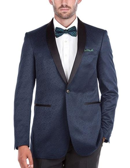 Mens Tuxedo Navy Slim