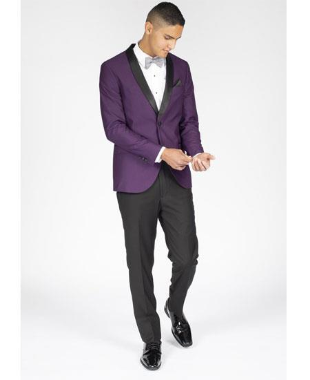 Mens Slim Fit Purple
