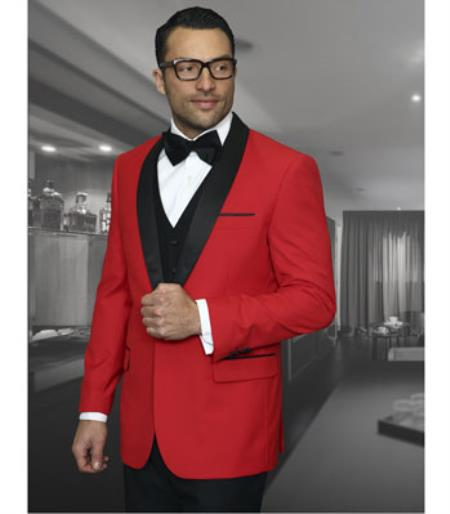 Mens 1 Button Red