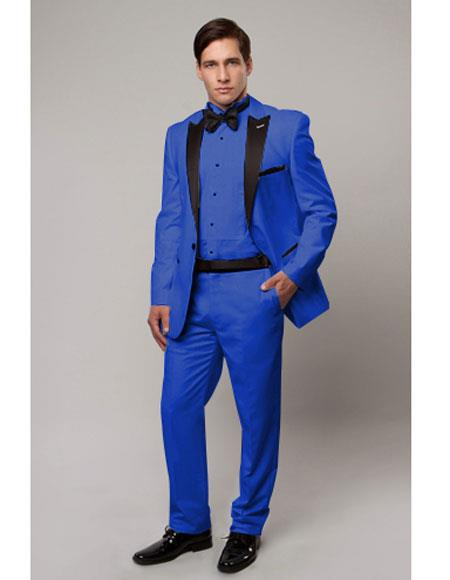Slim Tux royal blue