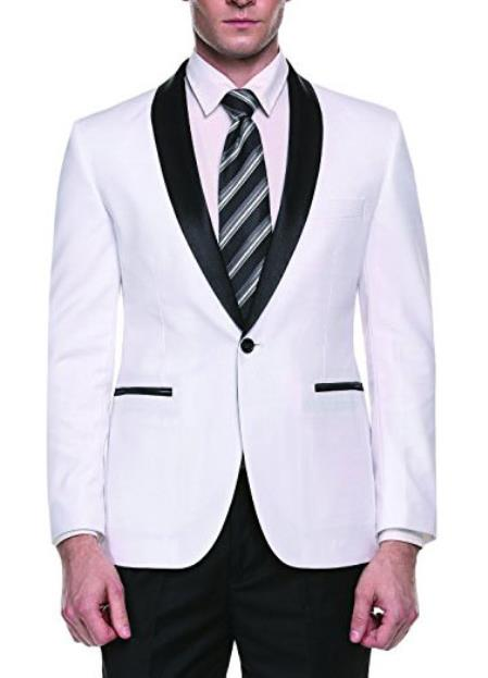 Mens White Slim Fit