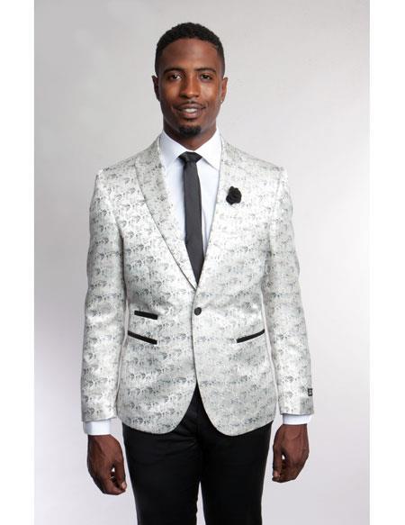 Mens Fashion Stage White
