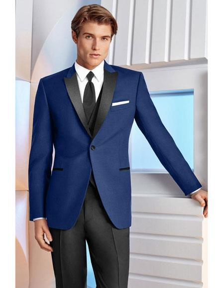Mens Royal ~ Indigo ~ Cobalt New Blue Suit