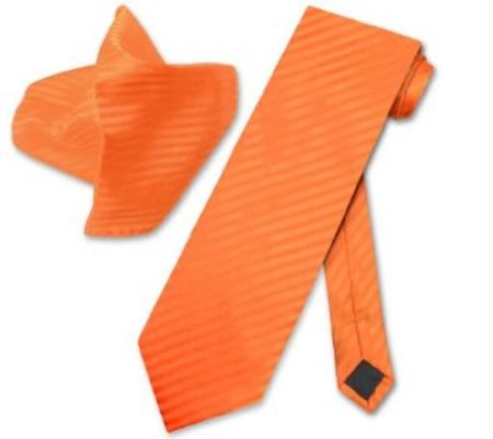 Orange Striped NeckTie &