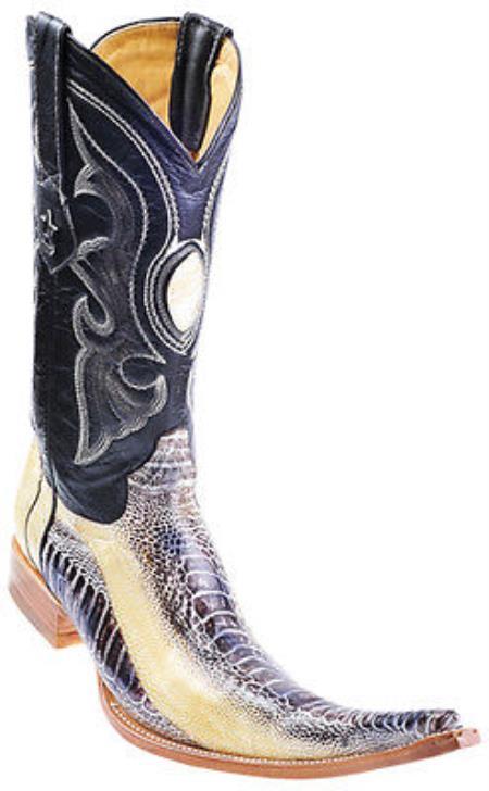 Ostrich Leg Handmade Beige