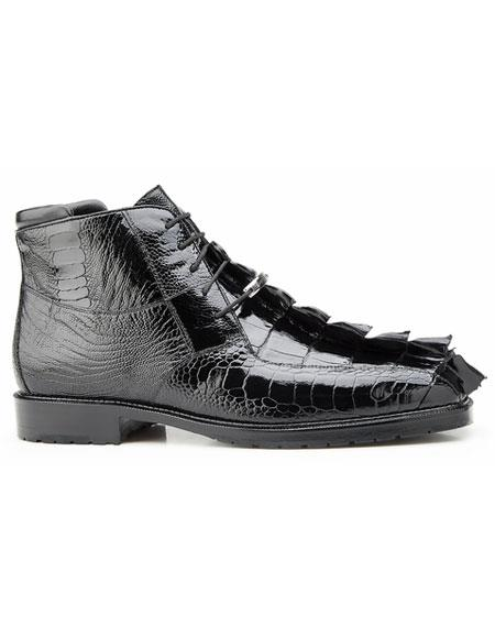 Mens Black Genuine Hornback
