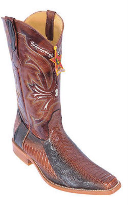 Ostrich Leg Cognac brown