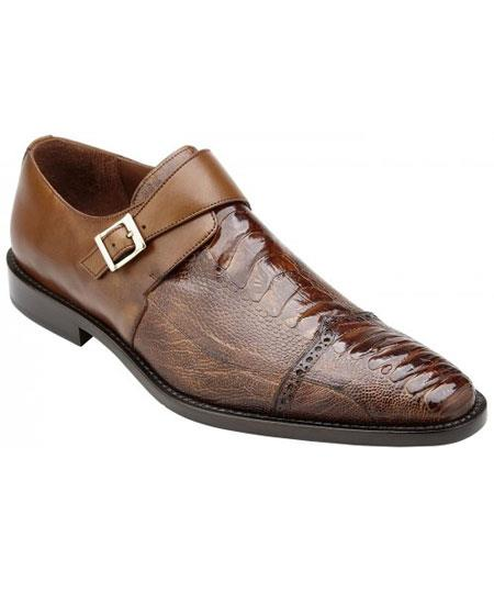 Mens Monk Strap Antique